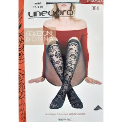 Lineaoro PRIMULA mintás harisnyanadrág 30 DEN fekete