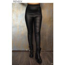 Rensix Műbőr fekete nadrág